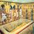 Sarcophage contenant le cercueil en or du pharaon Toutankhamon qui retenait sa momie. Musée du Caire, Egypte.