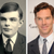 Alan Turing à gauche et l'acteur Benedict Cumberbatch qui incarna Alan Turing dans le film biographique «The Imitation Game».