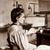 Marie Curie (1867-1934) dans son laboratoire.